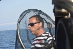 """Der Fischer Emanuele Fracceri auf seinem Boot """"Puma"""""""